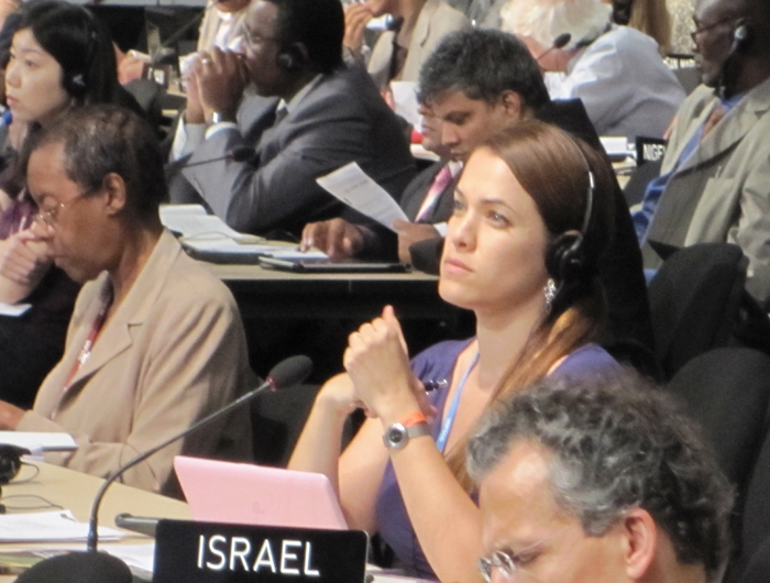 Dr. Orr Karassin of the Green Zionist Alliance at the United Nations Conference on Climate Change in Cancun