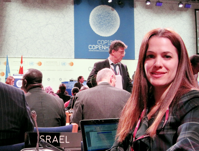 Dr. Orr Karassin of the Green Zionist Alliance at the United Nations Conference on Climate Change in Copenhagen