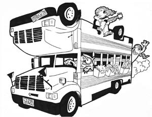 Teva's Topsy Turvy Bus